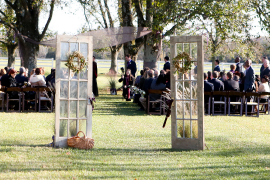 Glass Paned Ceremony Doors