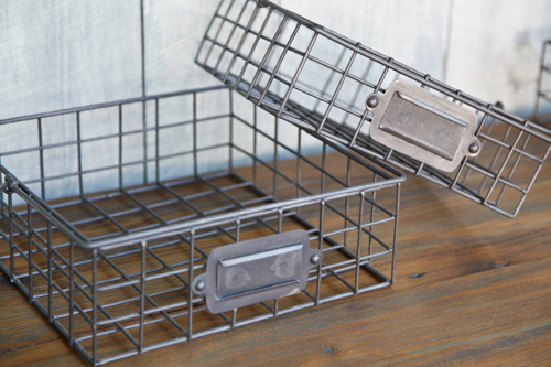 Square Wire Locker Baskets (Graduated)