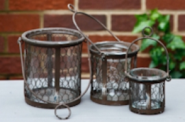 Vintage inspired hanging containers