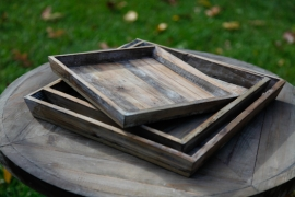 Whitewashed wooden trays