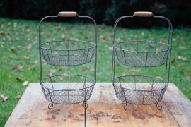 Dairy Road Tiered Display Baskets