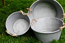 Rope Handle Galvanized Tubs