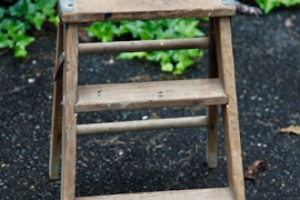 Distressed Wooden Step Stool