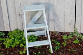 Seafoam Green Step Ladder