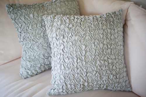 Puckered Gray Pillow
