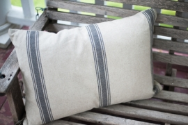 Striped Grain Sack Pillow