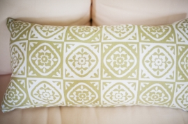 Green Patterned Log Pillow