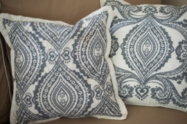 White Embroidered Pillow