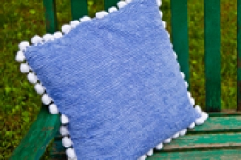 Blue Vintage Pillow