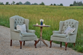 Sea Green Tufted Chairs