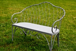 French Gray Wire Benches