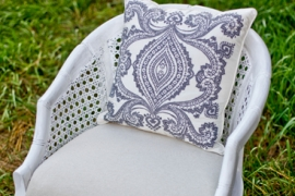 French Cane White Chair