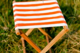 Orange Stripe Camp Stool
