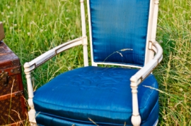 Royal Blue French Chair