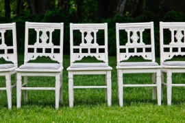 White distressed Character Chairs