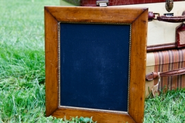 Small Wooden Framed Chalkboard