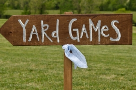 Yard Games Sign