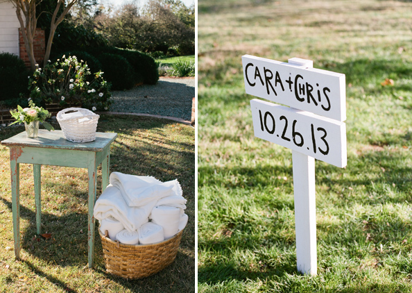 Ceremony Details + Directional Signs